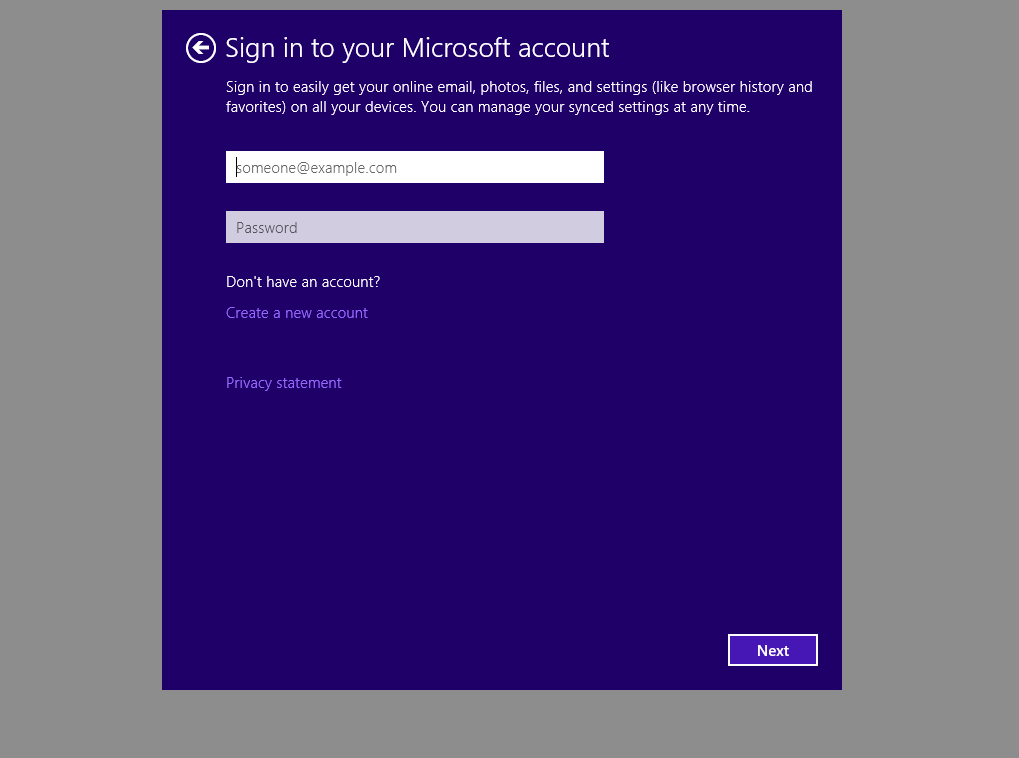 Windows 10 Beta How To Sign Into Domain Instead Of Microsoft Account