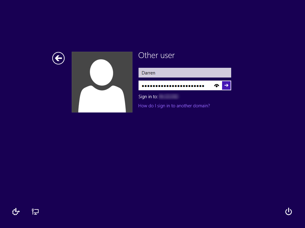 windows 10 beta u2013how to sign into domain instead of